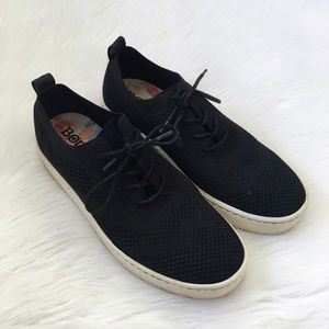 Born Black Stretchy Knit Sneakers Comfort Shoes